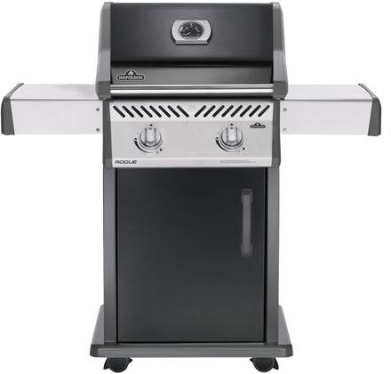 "Napoleon R365xPK 49"" Rogue 365 Series Freestanding Grill with 2 Stainless Steel Burners, and 365 sq. in. Cooking Surface, in Black"