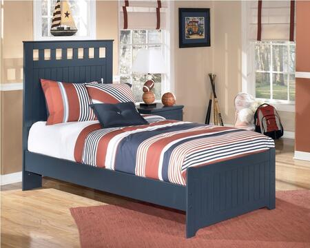 Signature Design by Ashley B103-TTT Leo Collection X Size Panel Bed: Blue