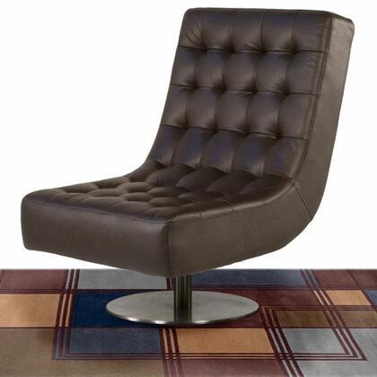 Diamond Sofa JAZZM Leather Lounge with Metal Frame in Mocha