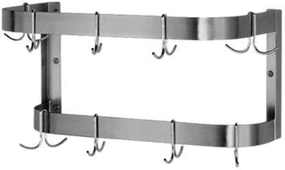 Stainless Steel Pot Rack (shown with 9 hooks)