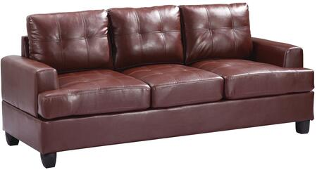 """Glory Furniture 79"""" Sofa with Removable Backs and Arms, Tapered Legs, Tufted Cushions, Track Arms and PU Leather Upholstery in"""