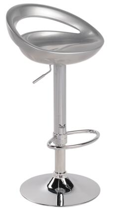 "LumiSource Swizzle BS-TW-SWZL 30"" - 39"" Barstool with Hydraulic Height Adjustment, ABS Seat and Chrome Base in"