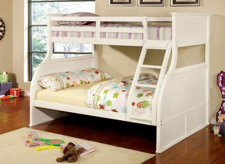 Furniture of America CMBK923BED Canova Series  Twin over Full Size Bunk Bed