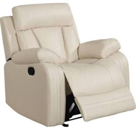 """Meridian Avery 645-C 39"""" Recliner with Top Quality Bonded Leather Upholstery, Glider Reclining and Removable Backs in"""