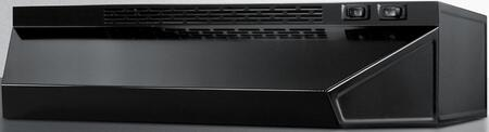 """Summit H1718x 18"""" Undercabinet Hood with Ductless Installation, 2 Fan Speeds, Light and Aluminum Charcoal Filter, in"""