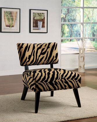 Coaster 460505 Armless Microfiber Wood Frame Accent Chair