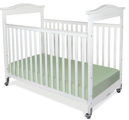 """Foundations Biltmore Series 1812XXX 55"""" Clearview Fixed-Side Crib with Mortise and Tenon Construction, Adjustable in Two Heights, Casters and Safesupport Solid Steel Frame"""