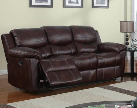 Global Furniture USA U2128S  Reclining Microfiber Sofa