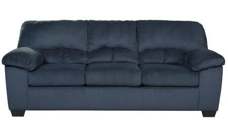 "Milo Italia Jacqueline MI-4878ETMP 89"" Stationary Fabric Sofa with Plush Padded Arms, Split Back Cushions and Loose Seat Cushions in"
