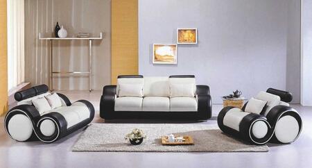VIG Furniture VGEV4088 Modern Leather Match Living Room Set