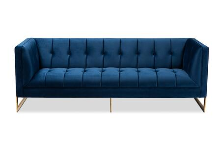 Wholesale Interiors Ambra TSF-5507-Navy/Gold-SF front