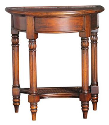 Bramble 23767 Provence Series Transitional Wood Half-Moon None Drawers End Table