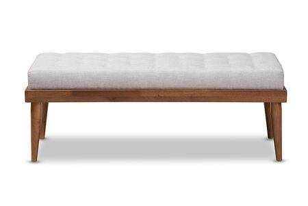 Wholesale Interiors Linus BBT5363-Greyish Beige-Bench front
