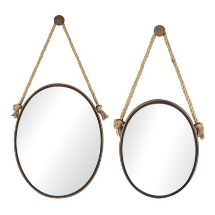 Sterling 538503 Mirrors on Rope Series Oval Portrait Wall Mirror