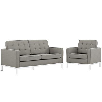 Modway EEI2442GRASET Fabric Living Room Set