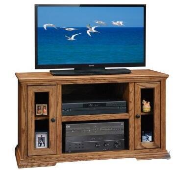 Legends Furniture CP12.GDO Colonial Place TV Cart in Golden Oak