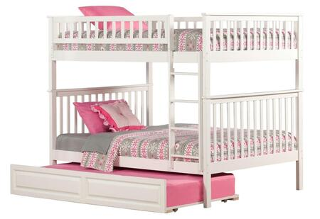 Atlantic Furniture AB5653 Woodland Bunk Bed Full Over Full With Raised Panel Trundle Bed