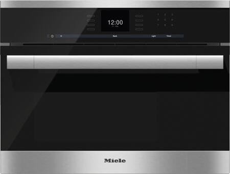 "Miele DG6 24"" 1.3 cu. ft. Single Wall Steam Oven with MultiSteam Technology, MasterChef Automatic Programs, LED Lighting, SensorTronic Controls, CleanGlass Door and CleanTouch Steel in Stainless Steel"
