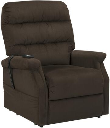 "Signature Design by Ashley 7460 Brenyth 32.75"" Power Lift Recliner with Lift-and-Tilt Function, Split Back Cushion, Metal Frame and Fabric Upholstery in Color"