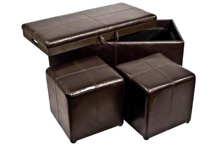 Corner II LTD PS00500 Modern Bonded Leather Ottoman