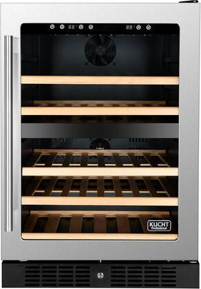 "Kucht K148x 24"" Wine Cooler with Touch-Key Control Panel, Fan Forced Cooling System, Safety Lock, in Stainless Steel"