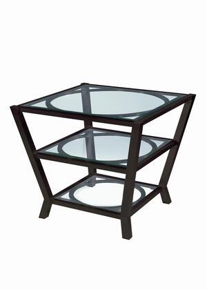 Allan Copley Designs 240102G&2S Veranda Series Contemporary Square End Table