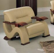 Global Furniture USA 2033LVCAPCH Leather Match with Wood Frame  |Appliances Connection