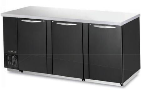 "Kool-It KBB903Bx 90"" Back Bars with Capacity of 31.5 cu.ft, 3 Door, 6 Shelves, 3/8 HP, in Black"