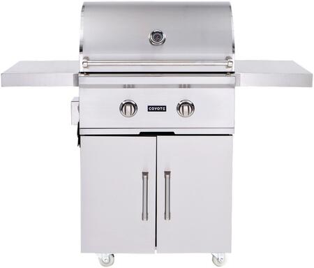"The Coyote C1C28NGFS 28"" Natural Gas Grill and Cart has a superior 304-grade stainless steel construction and is built to meet the demands of any and all serious grill masters."