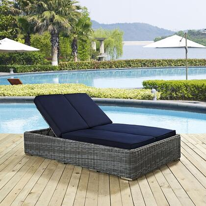 """Modway EEI1994GRYNAV 80"""" Water Resistant Lounge Chair"""