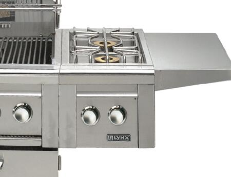Lynx LCB12 Professional Grill Series 15,000 BTU X Single Side-Burner for Cart Mounted Application: Stainless Steel (Image shown is not exact)
