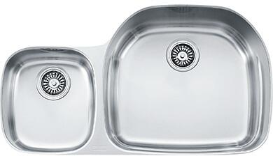 "Franke PCX1200 Prestige Classic 36"" Undermount Double Bowl Sink in Stainless Steel"