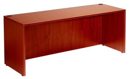 "Boss N102 66"" Desk Shell with Thermal-Fused Melamine and Wire Management"