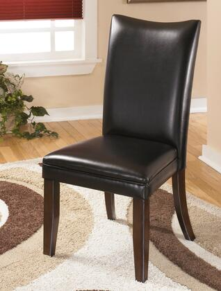 "Signature Design by Ashley Charrell D357-0X 20"" Dining Side Chair with Faux Leather Upholstery, Tapered Legs and Clean-Line Design in"
