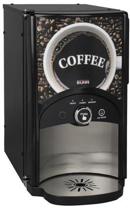 Bunn-O-Matic 44100.000x LCA-1 LP Low Profile Single Product Liquid Coffee Ambient Dispense With Hot Water Dispense Button, LED Lights, in Black