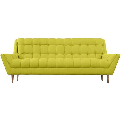 "Modway Response 89"" Sofa with Sloping Arms, Dense Foam Padding, Tapered Wood Legs, Plastic Floor Glides and Fabric Upholstery in"