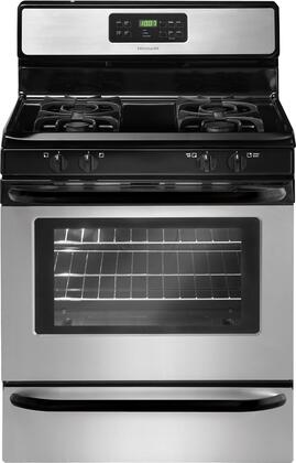 "Frigidaire FFGF3023LS 30"" Gas Freestanding Range with Sealed Burner Cooktop, 5 cu. ft. Primary Oven Capacity, Storage in Stainless Steel"
