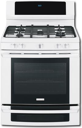 Electrolux EW3LGF65GW Wave-Touch Series Gas Freestanding Range with Sealed Burner Cooktop, 5.1 cu. ft. Primary Oven Capacity, Oven in White