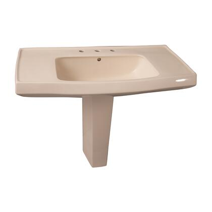Barclay 3958 Galaxy Collection Vitreous China Pedestal Lavatory with Large Deck: