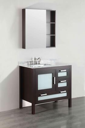 "Bosconi SB2511X 37"" Single Vanity in Dark Espresso"