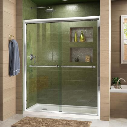 Duet Shower Door RS43 C Base LeftDrain