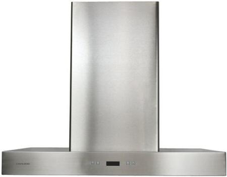 "Cavaliere 218 SV218Z2-I Island Range Hood With 900 CFM, Touch Sensitive LED Control Panel, Dishwasher Safe, 6 Speed Levels with Timer Function, 6"" Round Duct Vent In Stainless Steel"