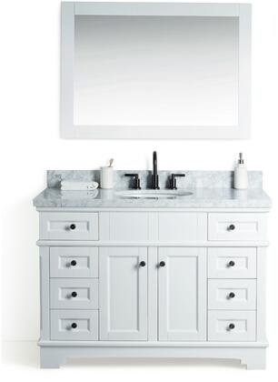 "Legion Furniture WS2048 48"" Solid Wood Sink Vanity With Mirror And Faucet"