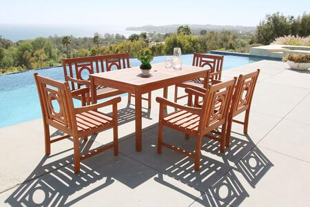 Vifah V98SET56 Rectangular Shape Patio Sets