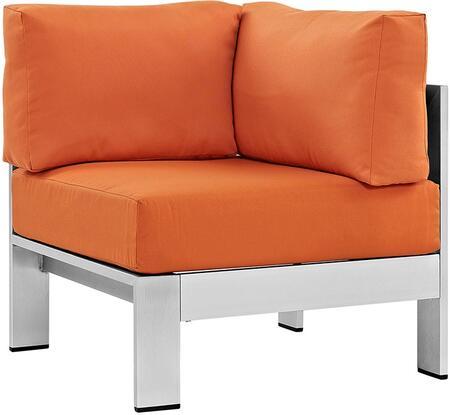 Modway EEI2264SLVORA Shore Series  Aluminum Frame  Patio Chair