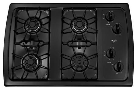 "Whirlpool W3CG3014X 30"" Gas Cooktop with 4 Sealed Burners, AccuSimmer Burner, Enamel Steel Grates, Knob Controls and ADA Compliant in"