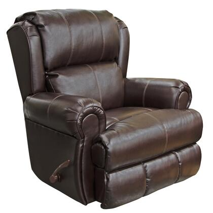 "Jackson Furniture Southport Collection 4367-11- 40"" Glider Recliner with Rolled Arms, Faux Leather Upholstery and Decorative Trapunto Stitching in"
