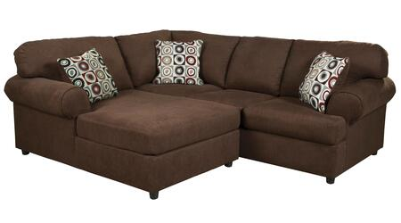 Signature Design by Ashley Jayceon 64904CHS 2-Piece Sectional Sofa with X Arm Facing Chaise and X Arm Facing Sofa in Java Brown