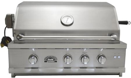 A Front View of the Grill, closed