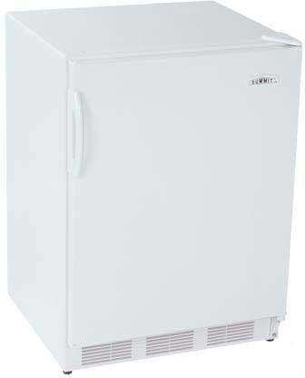 Summit FF7ACKEYPAD  Compact Refrigerator with 5.5 cu. ft. Capacity in White